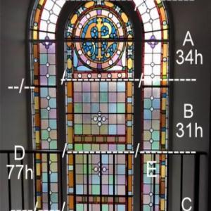 panels of East Gable Window